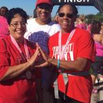 Soror Harris, Gray and Farr-Smith Walked for the Cure